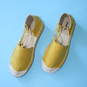 Shoes - 🆕//The Lani// Yellow Espadrille Flat